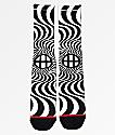 HUF x Spitfire Bighead calcetines blancos y negros