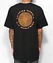 HUF x Spitfire Fire Swirl Black T-Shirt