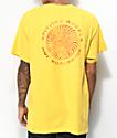 HUF x Spitfire Fire Swirl camiseta amarilla
