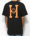HUF x Spitfire Flaming H Black T-Shirt