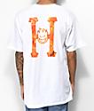 HUF x Spitfire Flaming H camiseta blanca