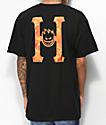HUF x Spitfire Flaming H camiseta negra