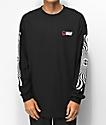 HUF x Spitfire Swirls camiseta negra de manga larga