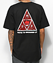HUF x Spitfire Triple Triangle Black T-Shirt