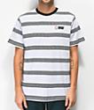 HUF x Spitfire camiseta blanca de rayas