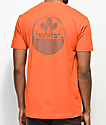 Habitat Line Logo Orange T-Shirt