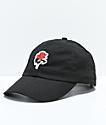 Halsey Red Rose Black Baseball Hat