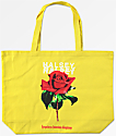 Halsey Single Rose Yellow Tote Bag