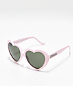 Happy Hour Heart Ons Matte Pink Sunglasses