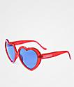 Happy Hour Heart Ons gafas de sol en rojo brillante y morado
