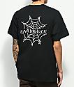 Hard Luck Spider Web Black T-Shirt