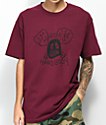 Hardies Hardware Hardbody Burgundy T-Shirt