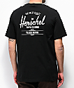Herschel Classic Logo camiseta negra