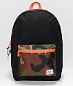 Herschel Supply Co. Heritage Black & Woodland Camo 21.5L Backpack