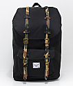 Herschel Supply Co. Little America Black Woodland Camo 25L Backpack
