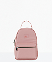 Herschel Supply Co. Nova Ash Rose mini mochila satinada