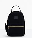 Herschel Supply Co. Nova mochila de pana negra