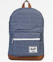 Herschel Supply Co. Pop Quiz Dark Chambray Crosshatch 22L Backpack