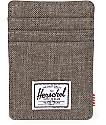 Herschel Supply Co. Raven Canteen Crosshatch Cardholder Moneyclip Wallet