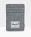 Herschel Supply Co. Raven Crosshatch Cardholder Moneyclip Wallet