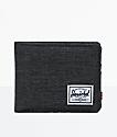 Herschel Supply Co. Roy Black Crosshatch Bifold Wallet