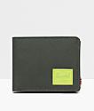 Herschel Supply Co. Roy Dark Green & Lime Bifold Coin Wallet