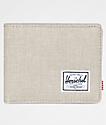 Herschel Supply Co. Roy Light Khaki Crosshatch cartera plegable