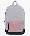 Herschel Supply Co. Settlement Mid Grey Crosshatch & Ash Rose Backpack