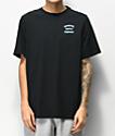 Herschel Supply Co. Stack Logo Black & Blue T-Shirt