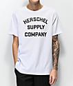 Herschel Supply Co. Stacked Logo White T-Shirt
