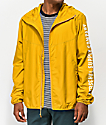 Herschel Supply Co. Voyage Yellow & White Windbreaker Jacket