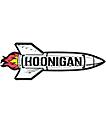 Hoonigan Black Rocket pegatina