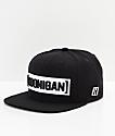 Hoonigan Censor Bar Black & White Snapback Hat