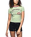 Hot Lava No Dweebs camiseta ringer en verde