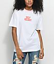 Hot Lava x Zumiez Self Reliant camiseta en blanco y rosa