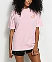 Hot Lava x Zumiez camiseta bordada en rosa clara