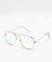Hotel California gafas transparentes de oro
