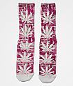 Huf Plantlife Madness calcetines rojos y blancos