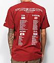 Hypland Tour camiseta borgoña
