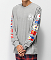 Hypland Worldwide Grey Long Sleeve T-Shirt