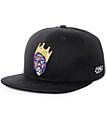 Hypnotize Crown Print Black Snapback Hat