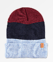 Imperial Motion Divide Light Blue, Navy & Burgundy Beanie