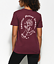 Imperial Motion Rose camiseta en color borgoño