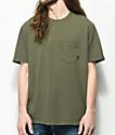 Imperial Motion Vintage camiseta con bolsillo en verde oliva