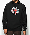 Independent Ringed Cross sudadera negra con capucha