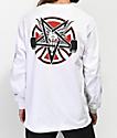 Independent x Thrasher Pentagram White Long Sleeve T-Shirt