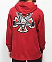 Independent x Thrasher Pentagram sudadera roja con capucha