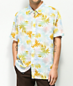 JSLV Distressed Palms Short Sleeve Button Up Shirt