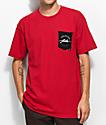 JSLV Round Select Pocket Red T-Shirt