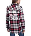 JV by Jac Vanek Pax Red & Grey Namaste Flannel Shirt